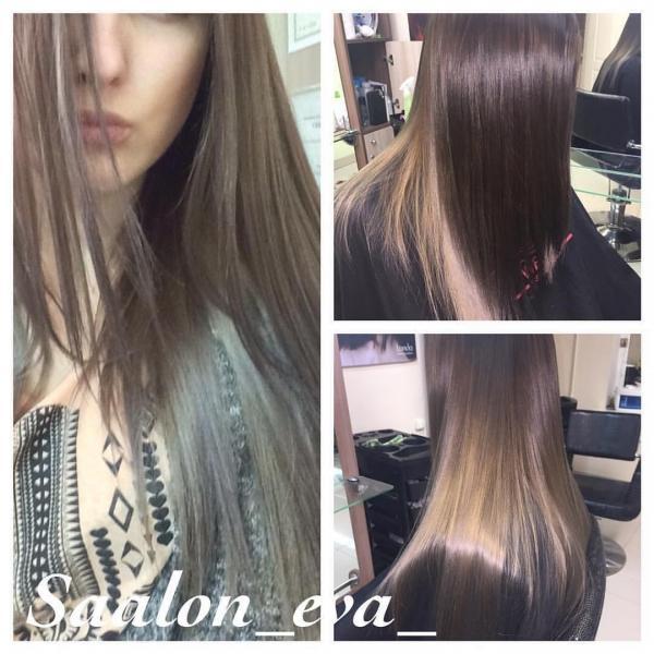 Брондирование волос 2019 - фото до и после окрашивания brond