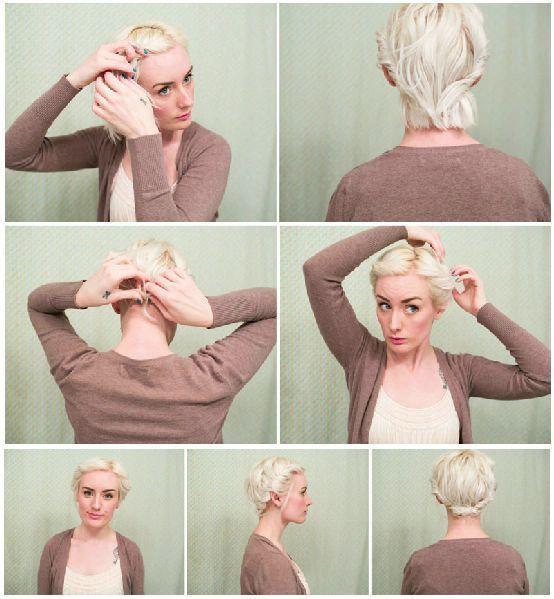 Красивые прически на короткие волосы своими руками - фото