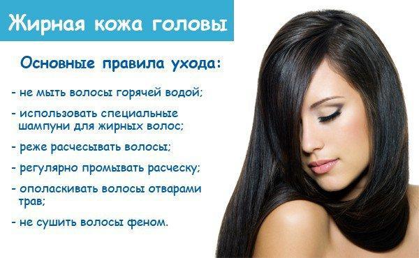 Жирная кожа головы - решаем проблему