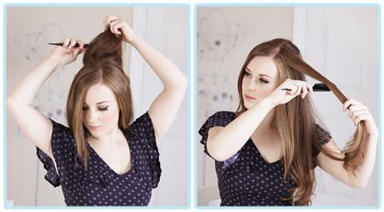 Простая романтичная прическа для длинных волос