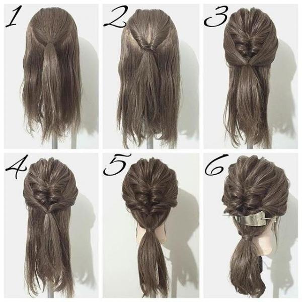 Повседневные прически на средние волосы своими руками - фото