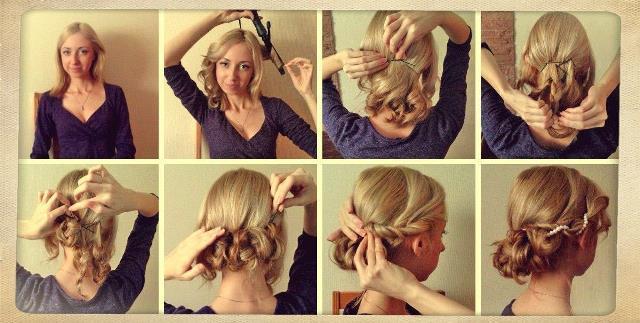 Прически на волосы до плеч своими руками - пошаговое фото