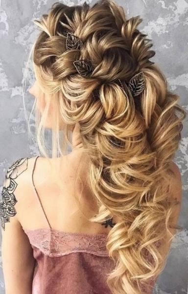 Прически на выпускной 2019 на длинные волосы в 4, 9 и 11 класс - фото