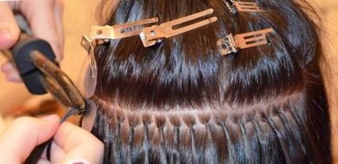 Микрокапсульное наращивание волос на короткие волосы - фото до и после