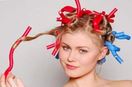 Химическая завивка крупными локонами на средние волосы - фото
