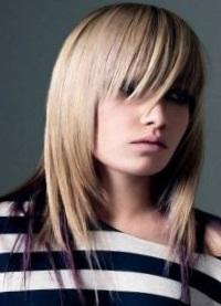 Стрижка лесенка на средние волосы с челкой и без челки фото