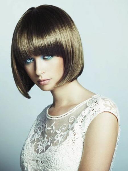 Стрижка каре с челкой - фото каре на короткие и средние волосы