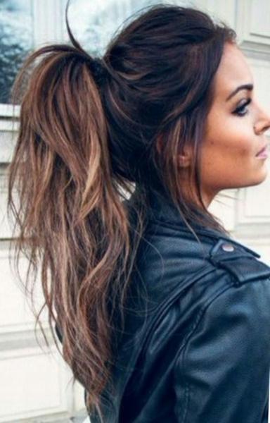 Стрижка лесенка на длинные волосы с челкой и без - фото причесок