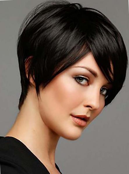 Стрижка гарсон на короткие и средние волосы фото спереди и сзади