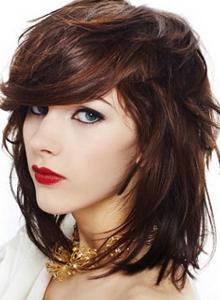 Стрижка шапочка на средние волосы - фото прически с челкой