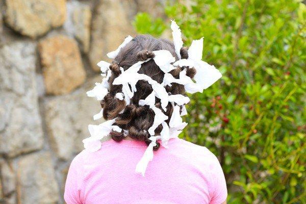 Ангельские кудри с помощью бумажных полотенец!