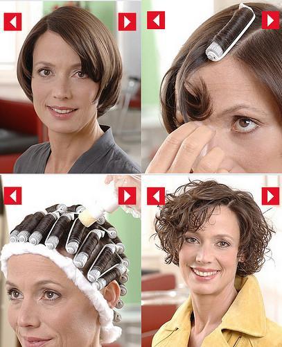 Химическая завивка на короткие волосы - фото коротких завивок