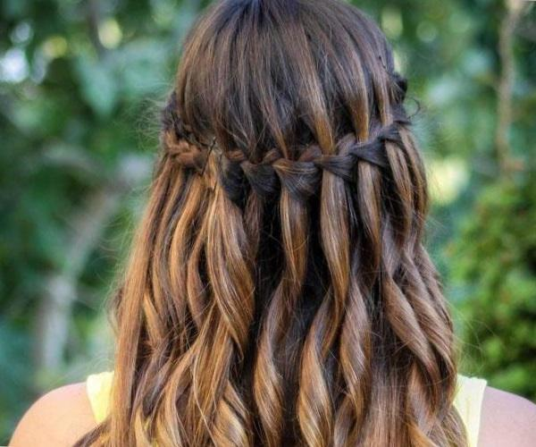 Прическа водопад - как плести пошагово косу водопад
