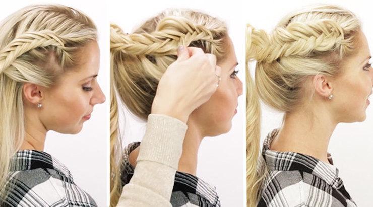 Научись плести стильные косы за 5 минут, это легко!