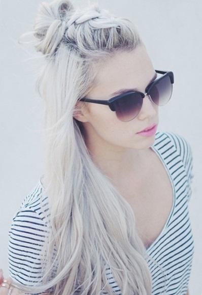 Прическа пучок на длинные волосы - высокий и низкий варианты пучка