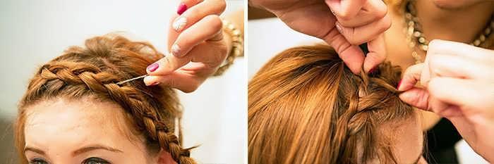 Плетение кос на короткие волосы - пошаговое фото для начинающих