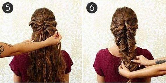 Объемная коса на длинные волосы