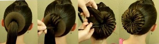 Причёски с бубликом на длинные волосы по шагам - фото причесок
