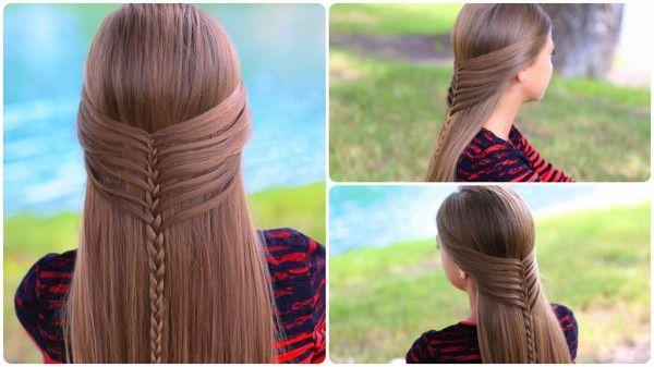 Коса русалки - прическа на длинные волосы
