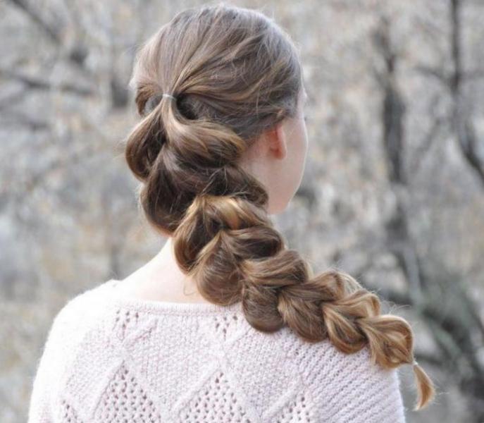 Плетение кос с резинками - прически с помощью резинок и хвостов