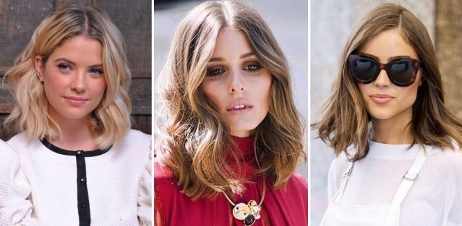 Стрижки средней длины 2019 - фото новинки модных женских причесок