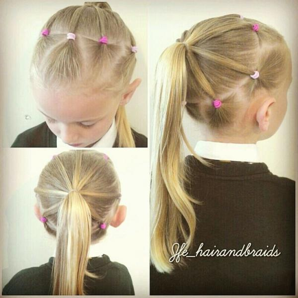 Прически с резинками для девочек на короткие и длинные волосы