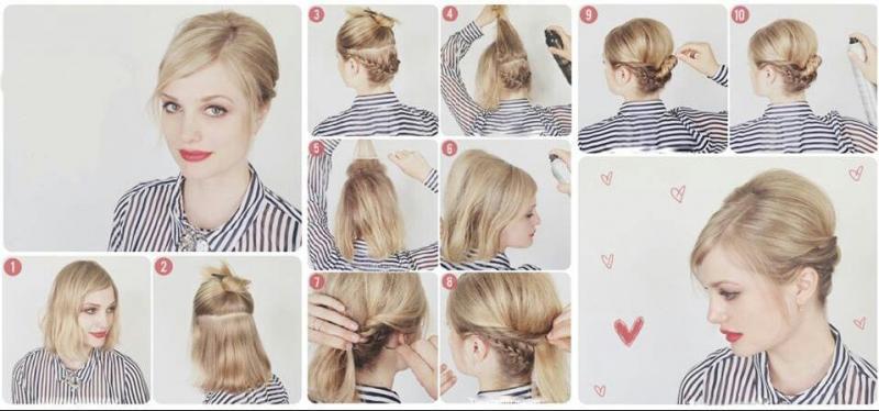 Прически на короткие волосы в домашних условиях - фото укладок