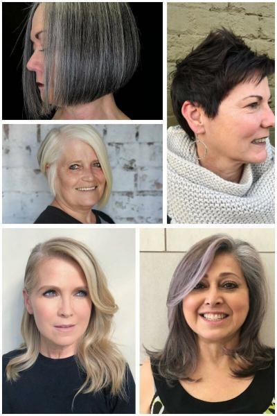 """Стильные стрижки для женщин в возрасте, когда лицо начало """"опадать"""""""