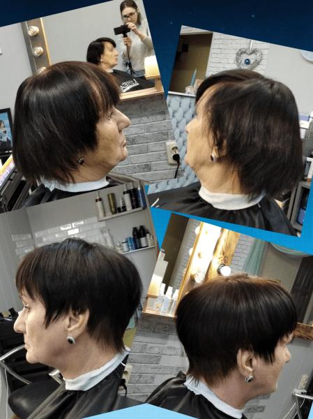 Стрижка для моей клиентки. До и после. Доработка волос.