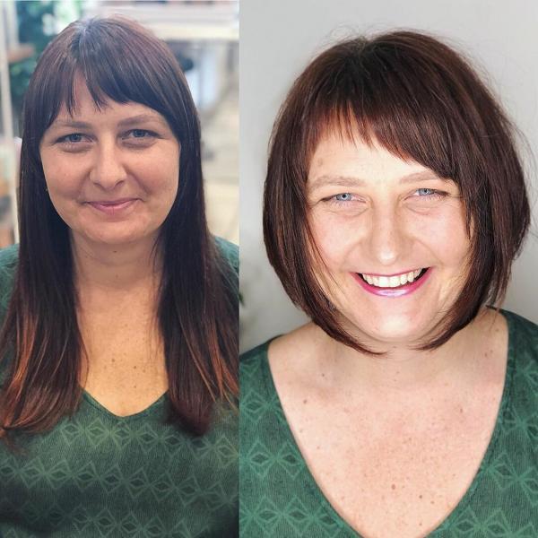 Стрижки после 50 лет на короткие волосы с челкой 2020