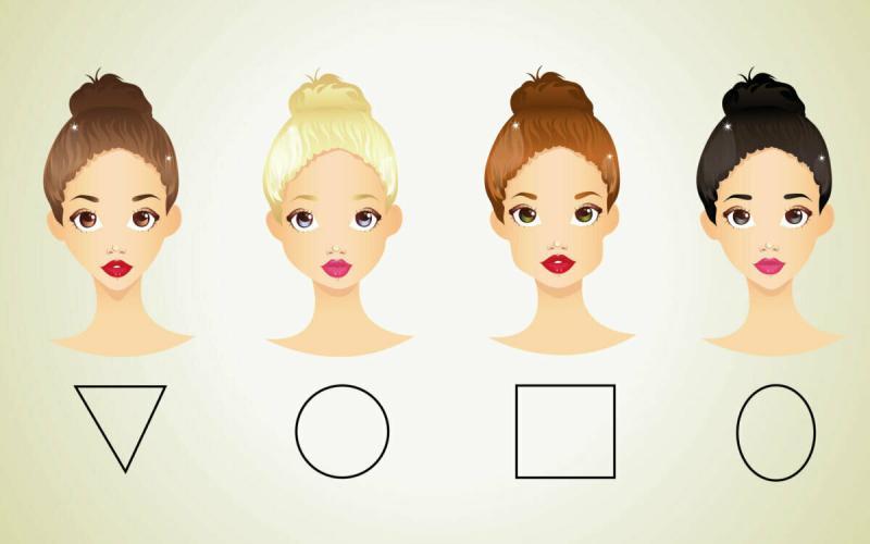 Выбор прически с учетом типа лица
