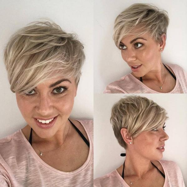 Асимметричная челка для коротких, средних и длинных волос