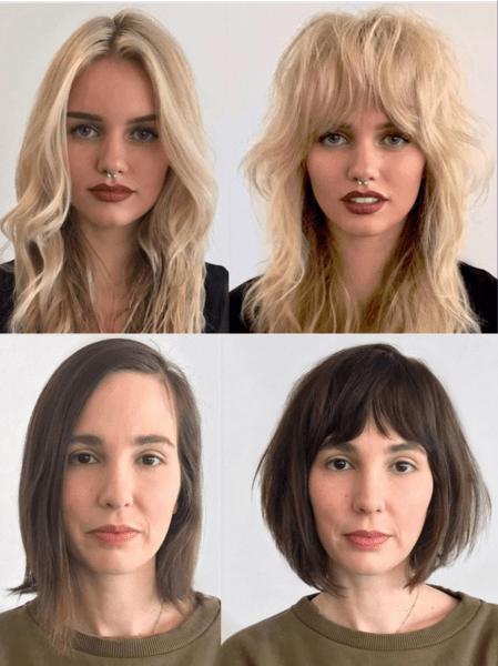Как чёлка может поменять лицо