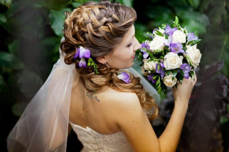 Как сделать свадебную прическу + занятный тест