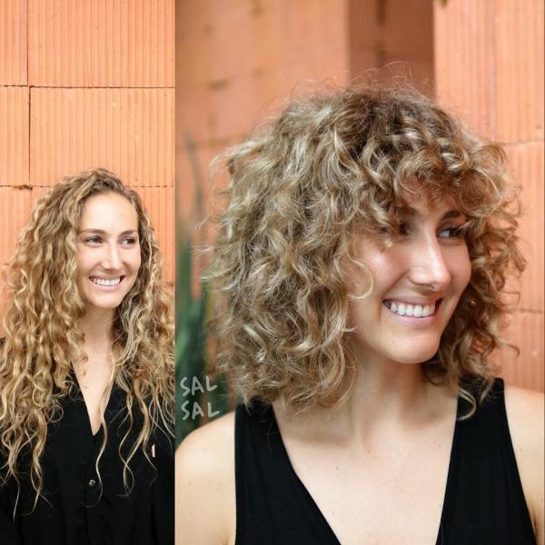 Модные стрижки на волнистые волосы и вьющиеся волосы 2020