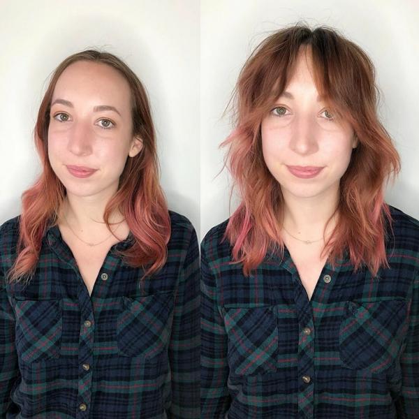 Как чёлка меняет лицо: 7 девушек до и после стрижки