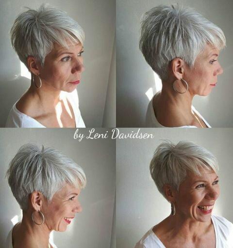 15 красивых идей стрижек для седых волос