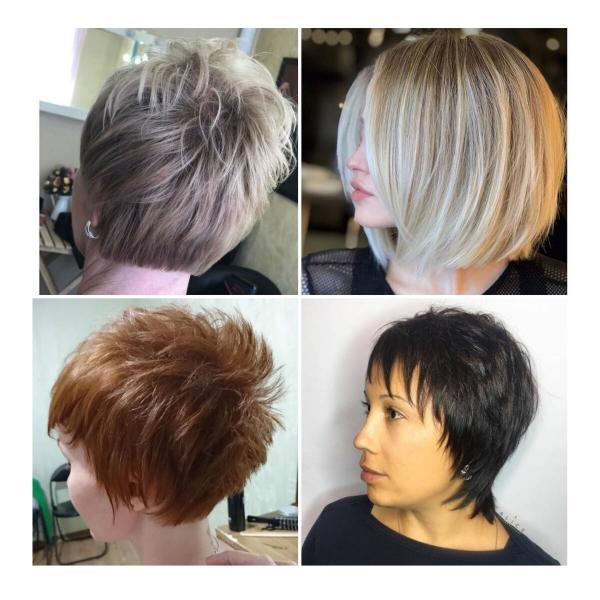6 женских стрижек для коррекции головы. Часть 96