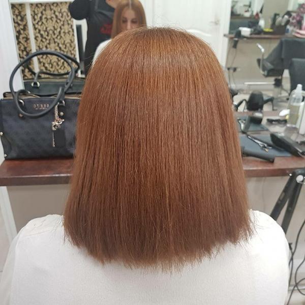 Японское выпрямление волос