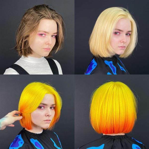 Преимущества и недостатки окрашивания волос в желтый цвет⠀