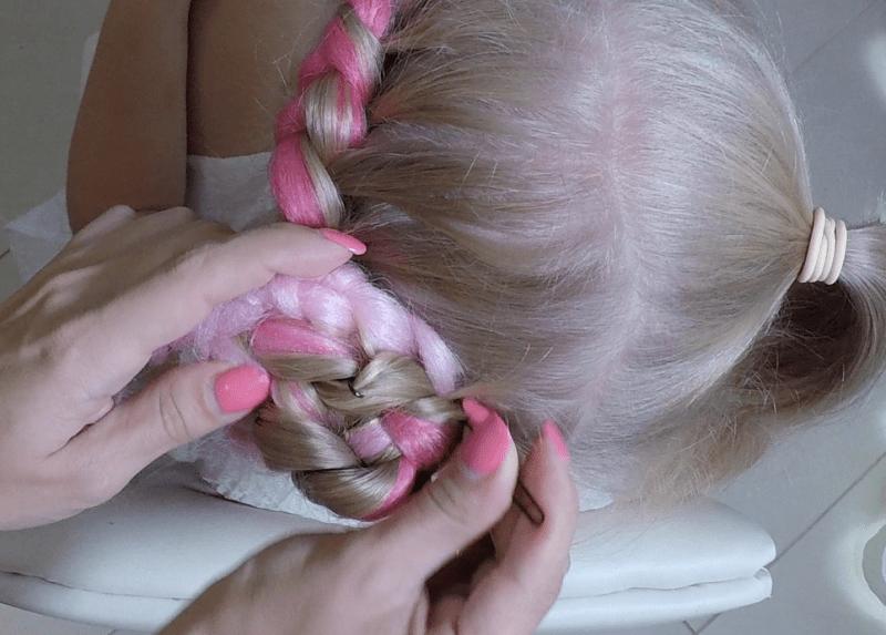 Коса наизнанку с канекалоном