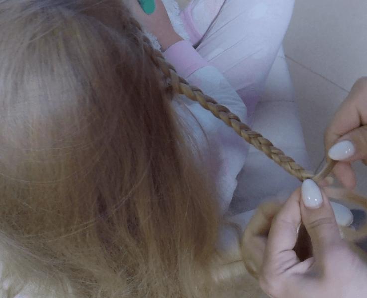 Прическа для школы. Пучок из волос.
