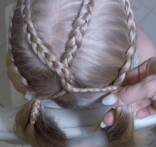 Причёска на каждый день для длинных волос