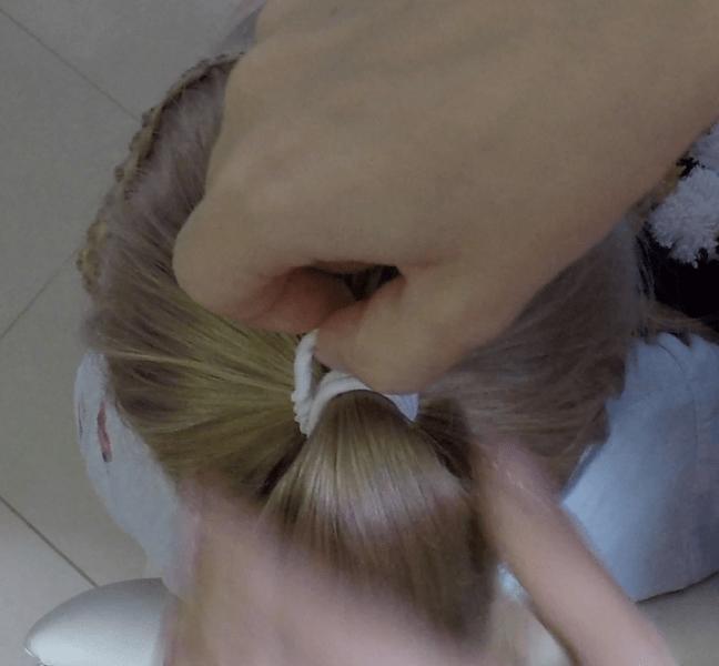 Как сделать пучок на длинные волосы