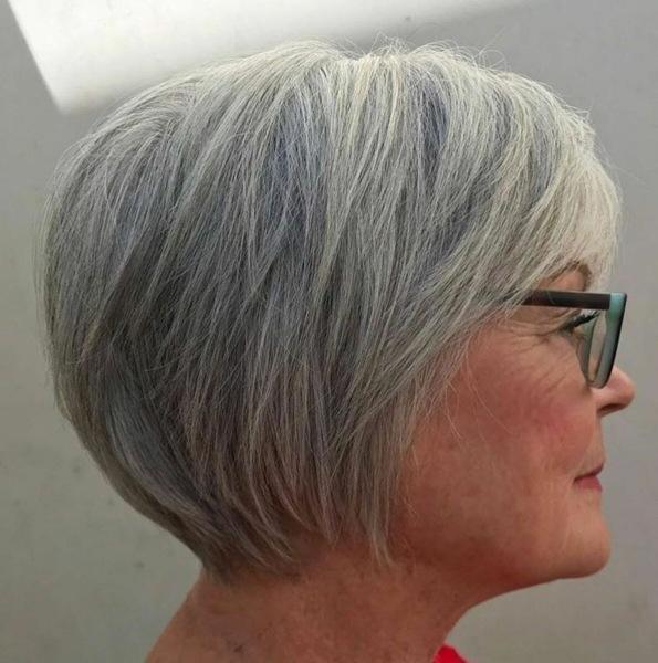 Стрижки на тонкие и седые волосы для женщин 60+