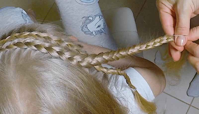 Плетение с высоким пучком на длинные волосы за 5 минут
