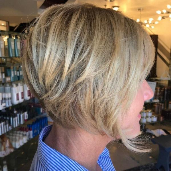 Великолепные стрижки для волос любой текстуры в категории 60+