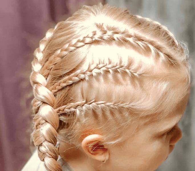 Плетение кос. Прическа в школу