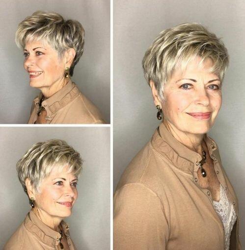 9 идей коротких стрижек для женщин старше 60