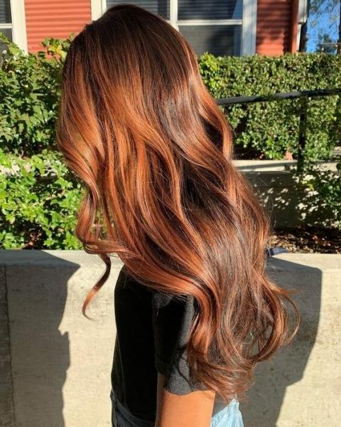 Волосы цвета корицы: 11 потрясающих образов
